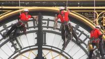 Big Ben clock puts on a new face