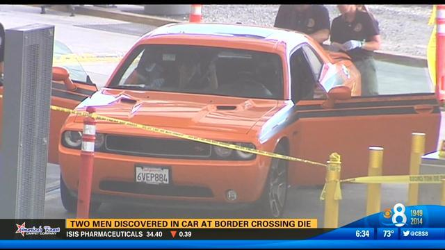 Two men discovered in car at border crossing die
