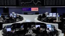 Solid company results help European shares stay near highs