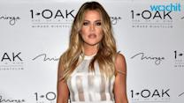 Khloé Kardashian Shows Skin in White Cage Dress