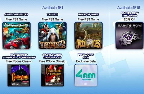 PS Plus offers free Awesomenauts, Rock of Ages, Symphony of the Night, more in May