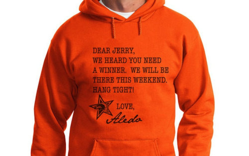 How many Aledo fans will be wearing this sweatshirt at the team's Texas state title game this weekend? -- MerchHaus.com