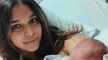 April Love Geary Welcomes Son Luca Patrick, Her Third Child with Robin Thicke: 'You Are Perfect'