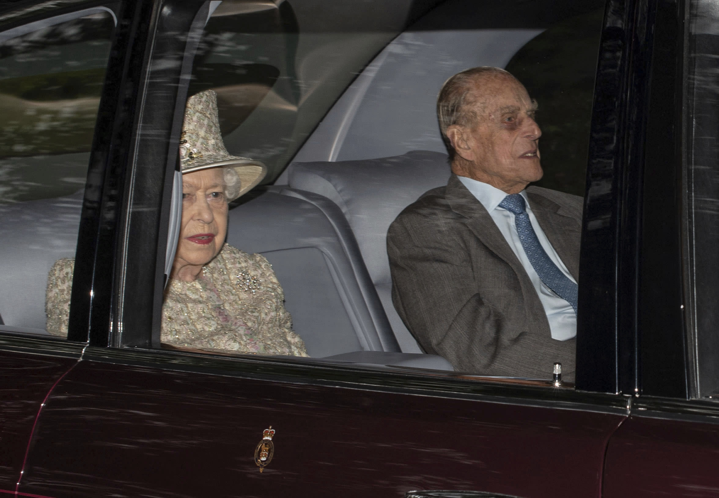 Her Majesty Queen Elizabeth II and Prince Philip The Duke of Edinburgh celebrate their 71st wedding anniversary on 11/20/18. They were married at Westminster Abbey on November 20th, 1947. - File Photo by: zz/KGC-492/STAR MAX/IPx 2018 8/19/18 Her Majesty Queen Elizabeth II and Prince Philip The Duke of Edinburgh attend the Sunday Church Service at Crathie Kirk - the regular place of worship of the British Royal Family when they are on holiday at Balmoral Castle. (Crathie, Aberdeenshire, Scotland, UK)