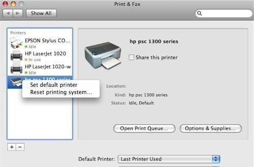 Mac 101: How to set a default printer