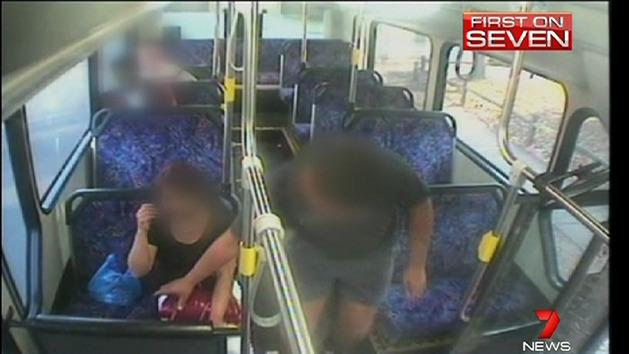 Video shows crims caught on buses