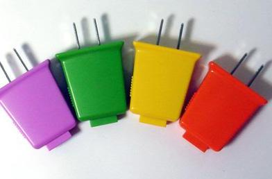 Brighton's colorful line of lilliputian USB chargers