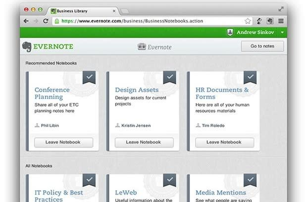 Evernote launches Evernote Business, readies to make your life even easier
