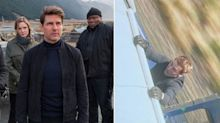 Tom Cruise hangs off the side of a train in new 'Mission: Impossible' photo