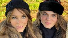 Elizabeth Hurley and Look-alike Son Damian, 17, Bear a Striking Resemblance in Christmas Selfie