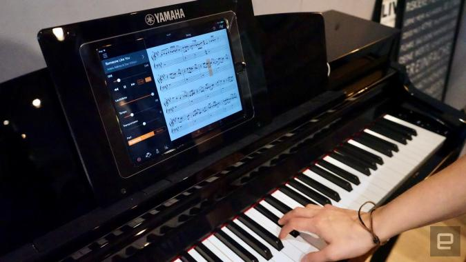 Yamaha's smart pianos work with Alexa and teach you how to play