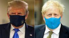 Por que Donald Trump e Boris Johnson passaram a usar máscaras em público?
