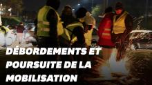 Gilets jaunes: les images des débordements de la nuit du 17 novembre