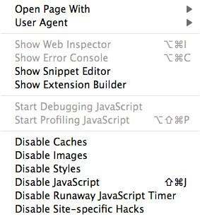 Quickly enable or disable JavaScript in Safari
