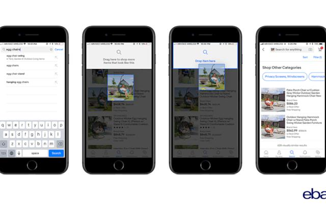eBay adds drag-and-drop ability to its image search tool