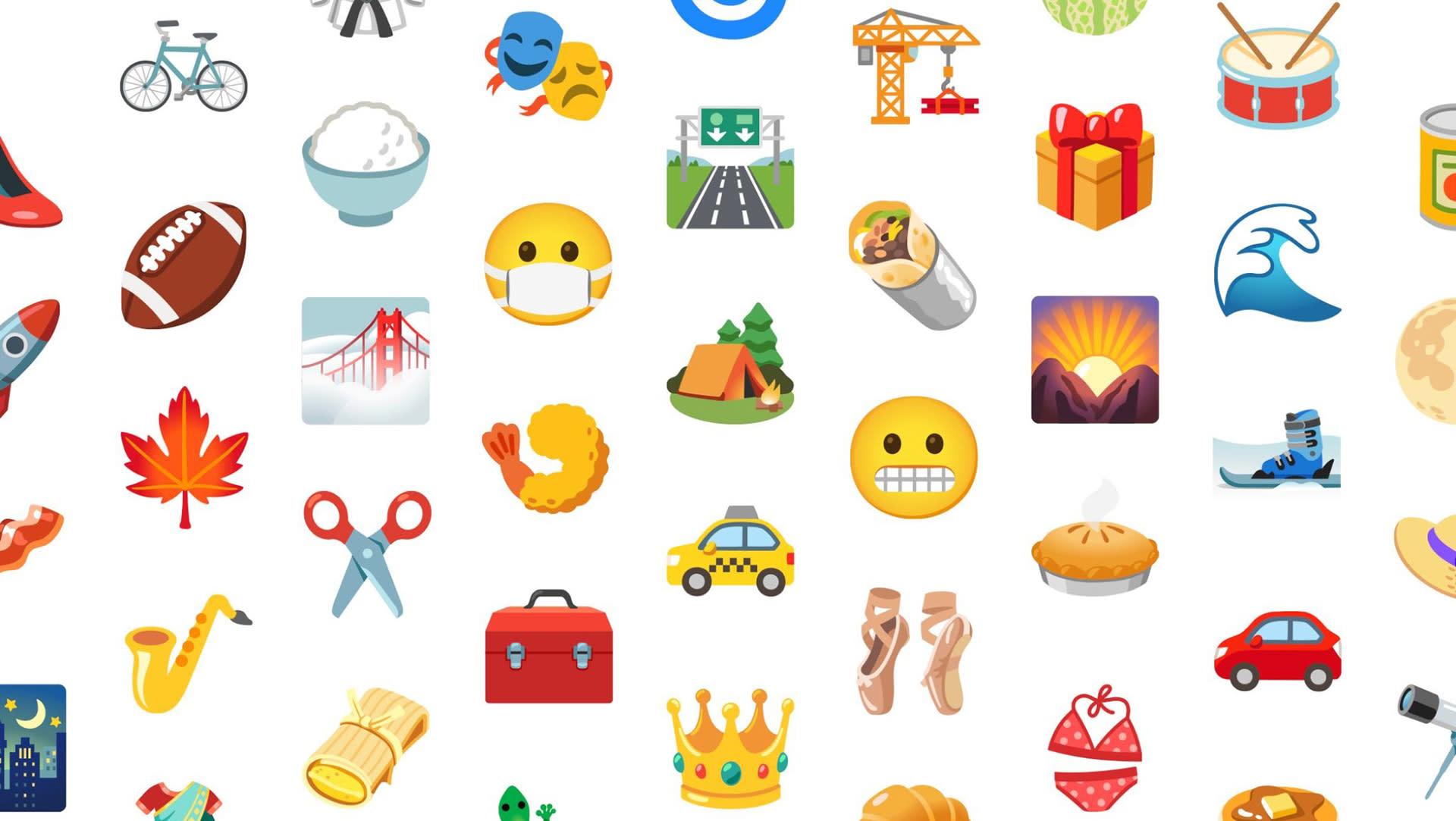 Android 12 emoji selection