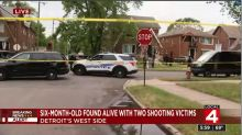 Baby found unharmed at home where parents were shot to death, Michigan police say