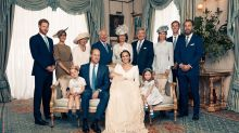 Queen watches over Prince Louis in official christening portrait - but can you spot Her Majesty?