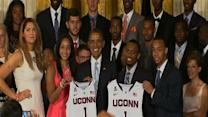 Raw: Obama Honors UConn Basketball Teams