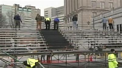 Crews Get Ready For New Governor