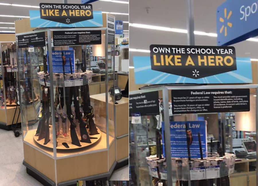 Wal-Mart slammed for back-to-school rifles display