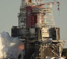SLS: Nasa's 'megarocket' engine test ends early