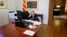 Catalan leader highlights equipment crunch at stressed hospitals