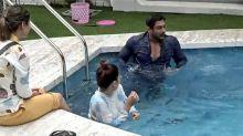 Bigg Boss 14; Sidhath Shukla teaches Cardio to Gauhar Khan in Pool