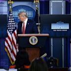 Trump abruptly taken out of briefing room as White House goes into lockdown following a shooting