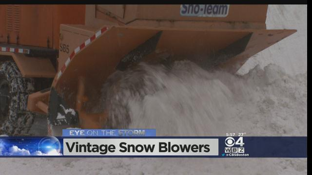 Woburn Company Uses Vintage Equipment To Clear Snow [Video]
