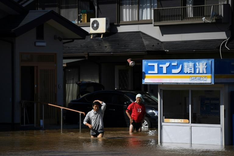 Powerful Typhoon Hagibis hit Tokyo and the surrounding region just weeks after another strong storm churned through the area (AFP Photo/CHARLY TRIBALLEAU)