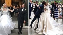This VS model wore an epic 2-in-1 wedding dress