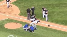 White Sox' Jose Abreu and Royals' Hunter Dozier exit game after collision