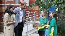 El príncipe Enrique y Meghan aprenden sobre ingredientes nativos de Australia