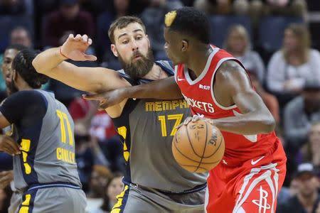 2a59fbdd17f4 NBA roundup  Grizzlies top Rockets in OT despite Harden s 57