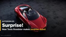 New $200,000 Tesla Roadster speeds in front of electric big-rig truck