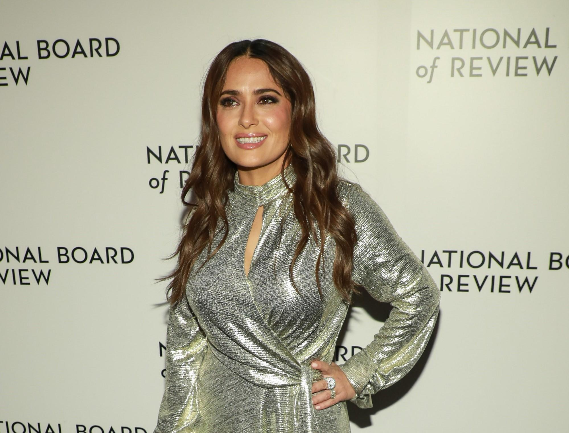 Salma Hayek Gets Real About Why Her Breasts Have Gotten Bigger Over the Years - Yahoo Entertainment