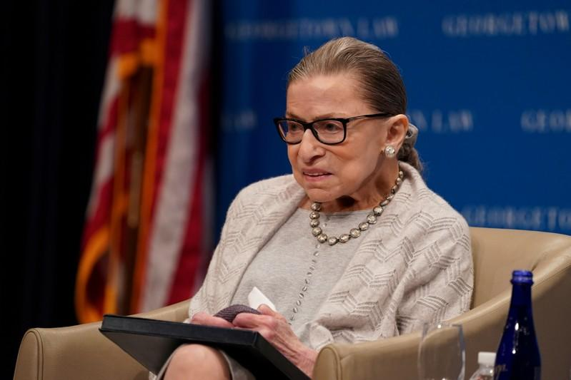 US Justice Ruth Bader Ginsburg admitted to hospital