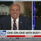 Hannity consoles Giuliani over press conference when 'a little Just For Men came down your cheek'
