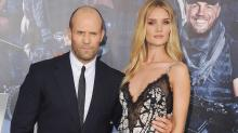 Jason Statham Steps Out With the Ravishing Rosie Huntington-Whiteley for 'The Expendables 3'