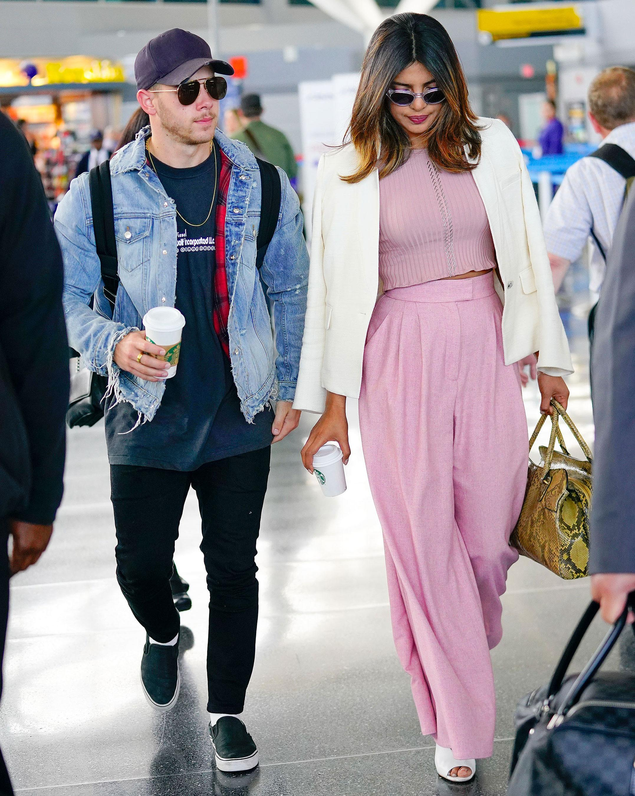 Nick Jonas And Priyanka Chopra Make Their Couple Debut At Jfk