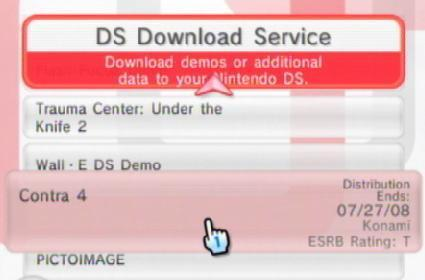 DS Download Service updates with old demos