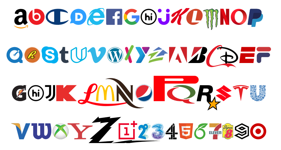 This funky new font is made up entirely of brands   Engadget