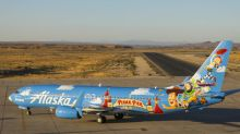 Alaska Airlines' newest painted Pixar-themed aircraft showcases Pixar Pier at Disney California Adventure Park (along with a few well-known faces)