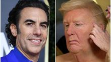Sacha Baron Cohen Says Trump Disguise In 'Borat' Sequel Was Nearly Foiled In Transit