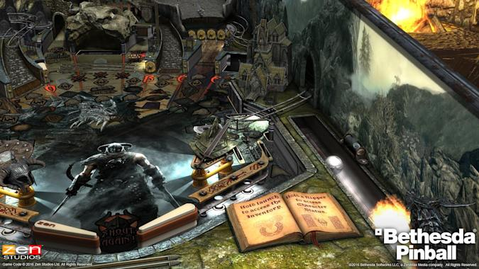 'Skyrim' and 'Fallout' immortalized as virtual pinball machines