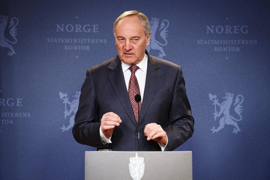 Latvian President Andris Berzins addresses a joint press conference in Oslo, on March 18, 2015 (AFP Photo/Junge, Heiko)