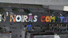 """""""La vie des Noir.e.s compte"""": à Montréal, une fresque """"Black Lives Matter"""" en version française"""