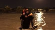 Firefighters Rescue Victims of Flooding in Kuwait