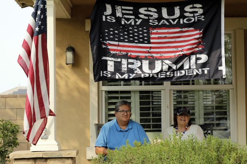 L.A. County is deep blue, but in Lancaster, Trump flags fly near Biden signs